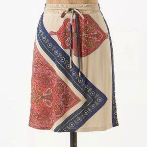Anthropologie leifnotes skirt leaf and arrow